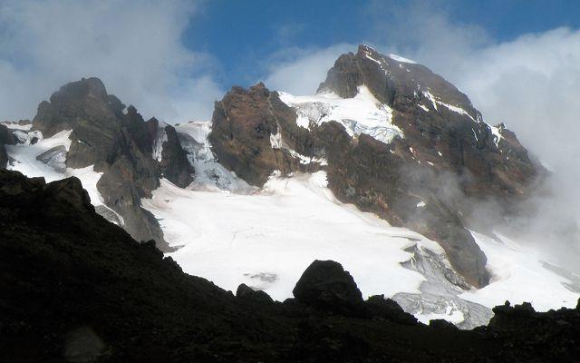 snowcapped peaks of the ecuadorian Altar