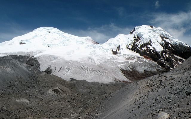 snowcapped peaks of the ecuadorian Antisana