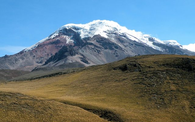 Ecuador Classic Deluxe - View on the snowcapped peaks of Chimborazo