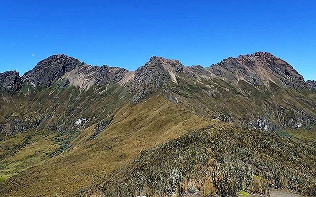 peaks of the ecuadorian Ruminahui