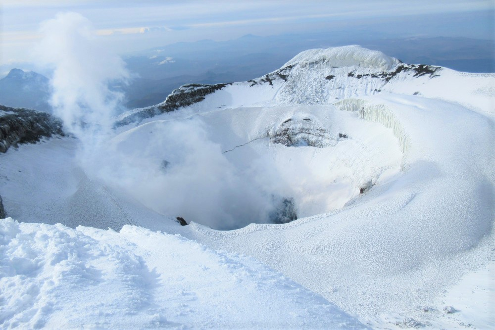 crater of cotopaxi