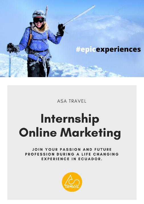Internship online marketing ASA Travel