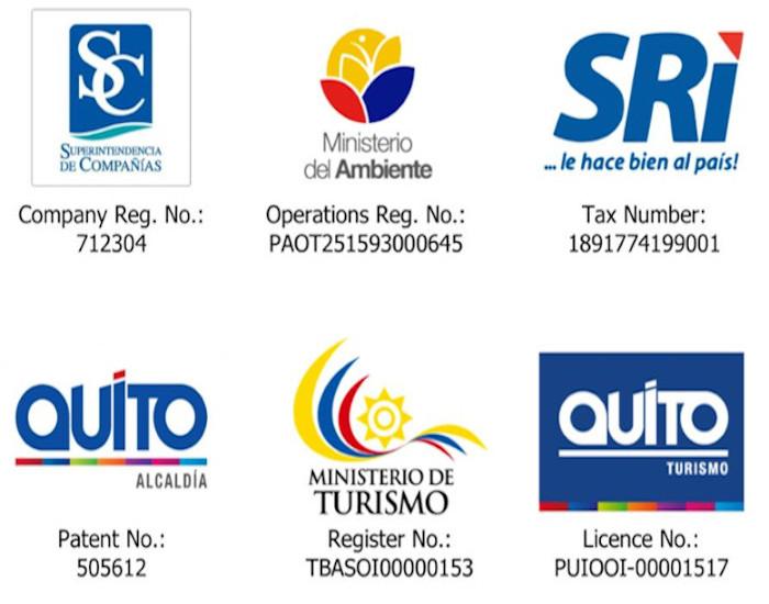 ecuadorian Licences of ASA Travel