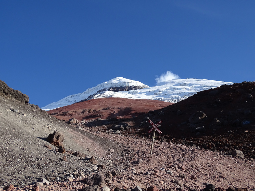 View of the summit of Cotopaxi