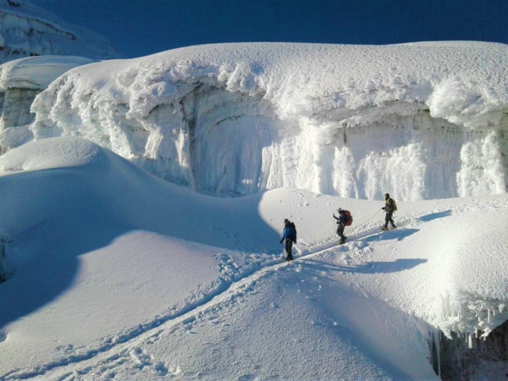 Mountaineer's in the glacier of Cotopaxi